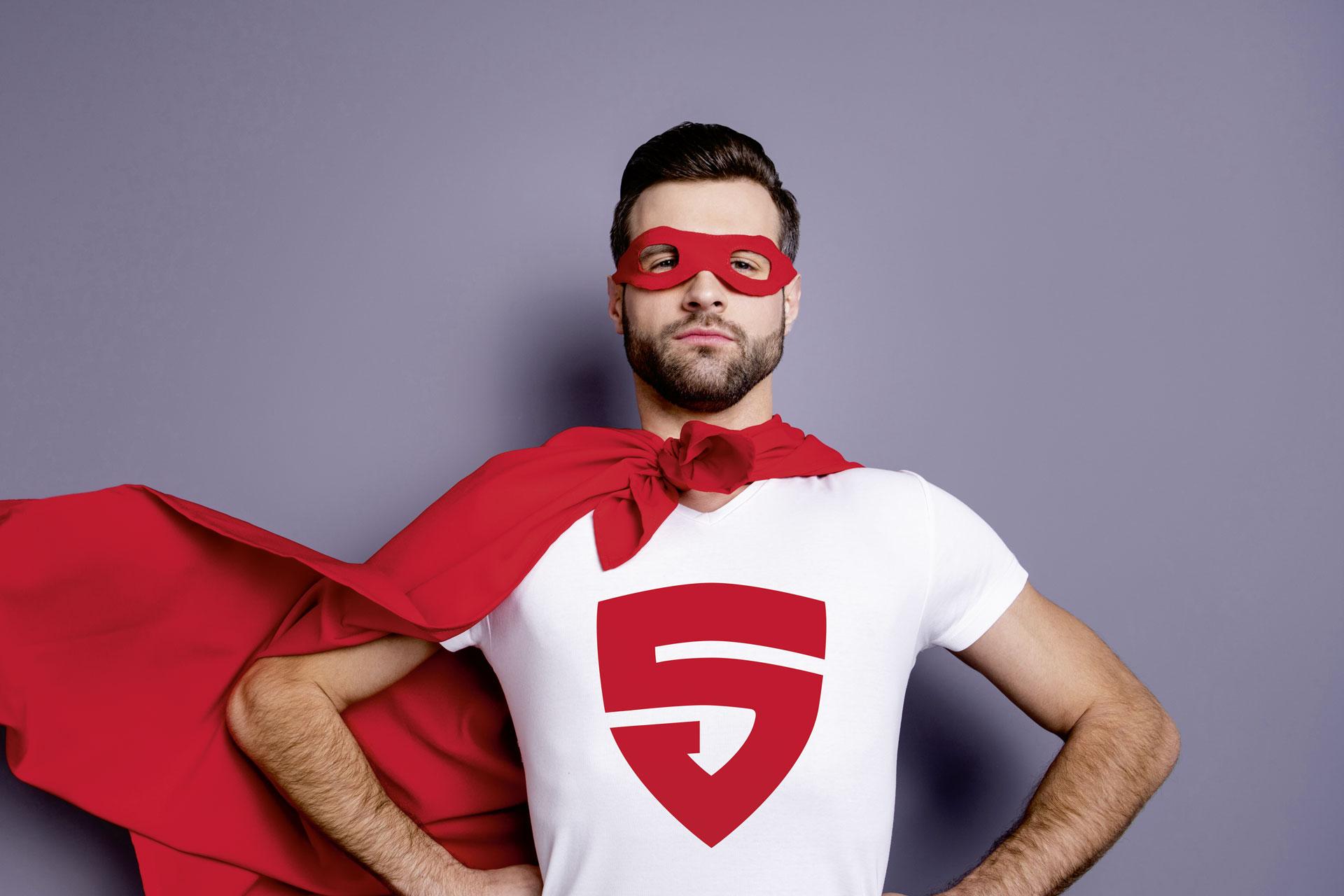 Superheld mit Cape